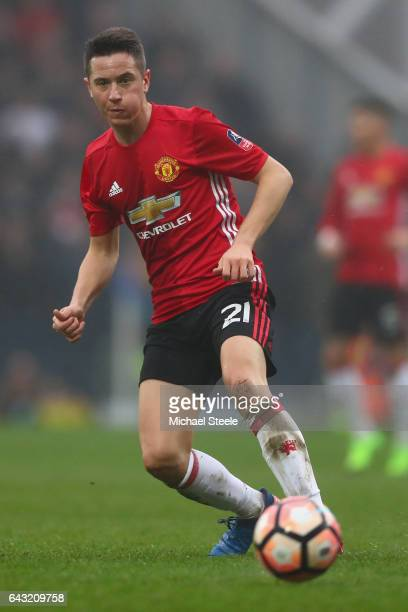 Ander Herrera of Manchester United during The Emirates FA Cup Fifth Round match between Blackburn Rovers and Manchester United at Ewood Park on...