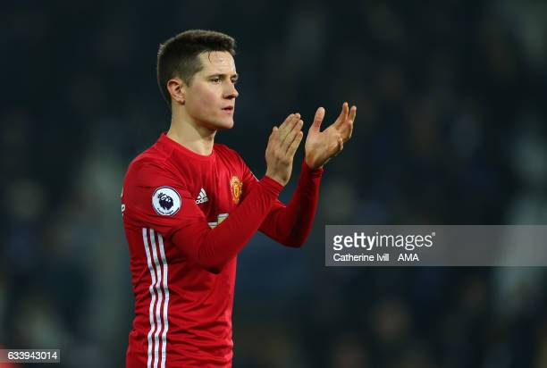 Ander Herrera of Manchester United during the Premier League match between Leicester City and Manchester United at The King Power Stadium on February...