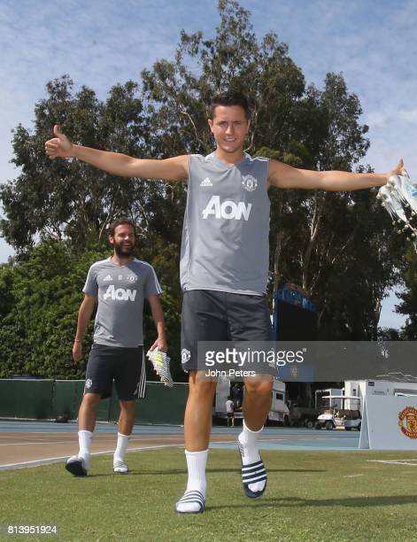 Ander Herrera of Manchester United in action during a first team training session as part of their preseason tour of the USA at UCLA on July 13 2017...