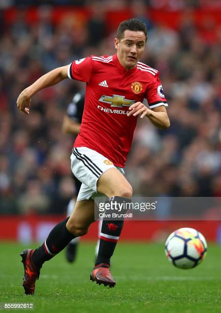 Ander Herrera of Manchester United in action during the Premier League match between Manchester United and Crystal Palace at Old Trafford on...