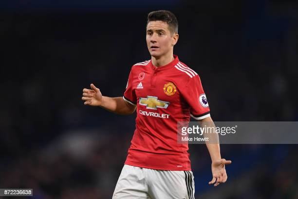 Ander Herrera of Manchester United in action during the Premier League match between Chelsea and Manchester United at Stamford Bridge on November 5...