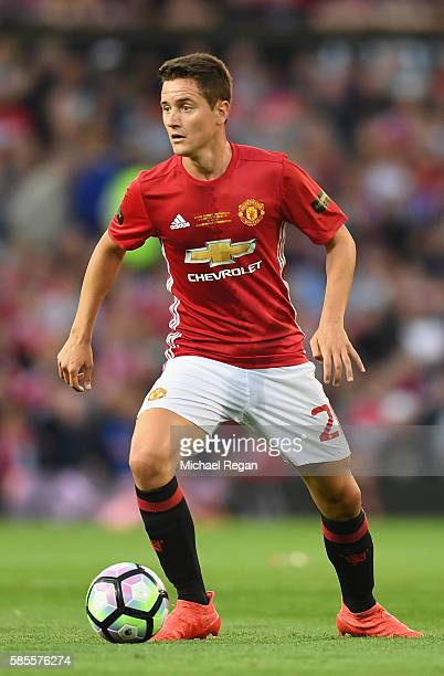 Ander Herrera of Manchester United in action during the Wayne Rooney Testimonial match between Manchester United and Everton at Old Trafford on...