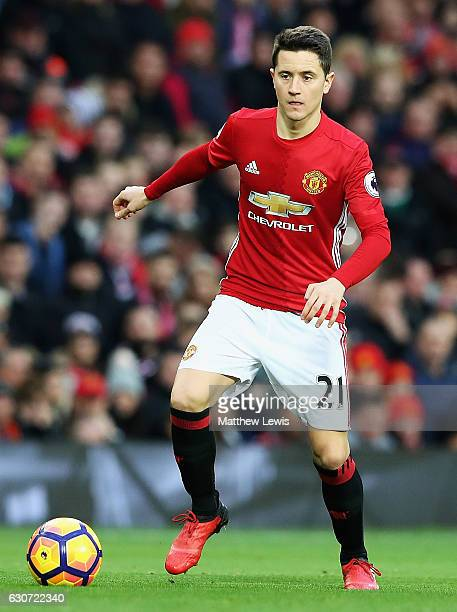 Ander Herrera of Manchester United looks on during the Premier League match between Manchester United and Middlesbrough at Old Trafford on December...