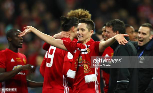 Ander Herrera of Manchester United reacts after the EFL Cup Final match between Manchester United and Southampton at Wembley Stadium on February 26...