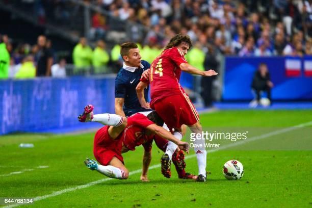 Ander ITURRASPE / Lucas DIGNE / Santi CAZORLA France / Espagne Match Amical Photo Dave Winter / Icon Sport