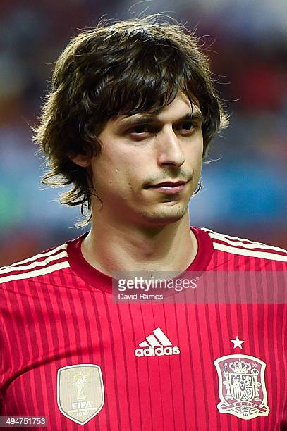 Ander Iturraspe of Spain looks on prior to an international friendly match between Spain and Bolivia at Estadio Ramon Sanchez Pizjuan on May 30 2014...