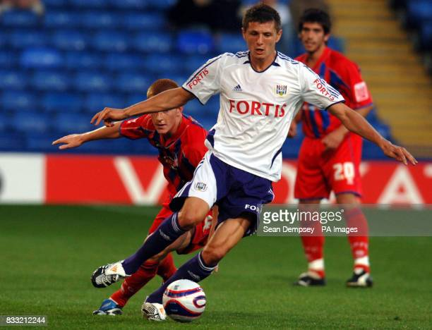 Anderlecht's Cyril Thereau in action during the preseason friendly match at Selhurst Park London