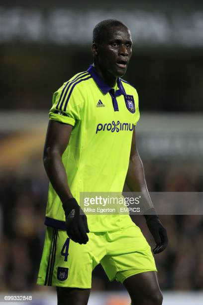Anderlecht's Mbodj Kara during the UEFA Europa League match at White Hart Lane London