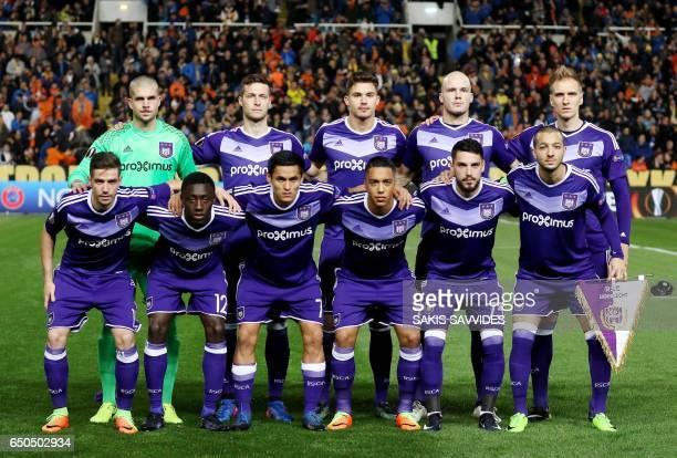 Anderlecht's starting eleven Spanish goalkeeper Ruben Serbian defender Uros Spajic Belgian midfielder Leander Dendoncker Polish midfielder Lukasz...