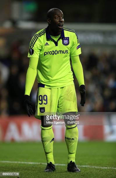 Anderlecht's Stefano Okaka during the UEFA Europa League match at White Hart Lane London