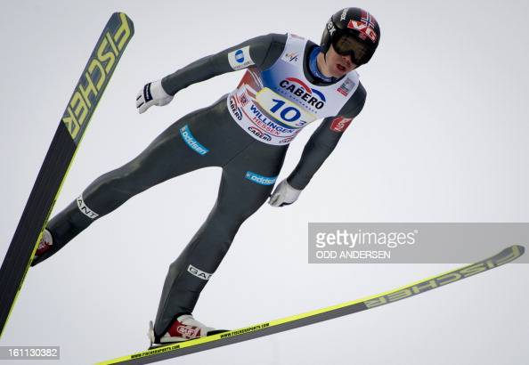 Anders Bardal of Norway jumps during the FIS Ski Jumping World Cup team competition on the Muehlenkopfschanze hill in Willingen western Germany on...