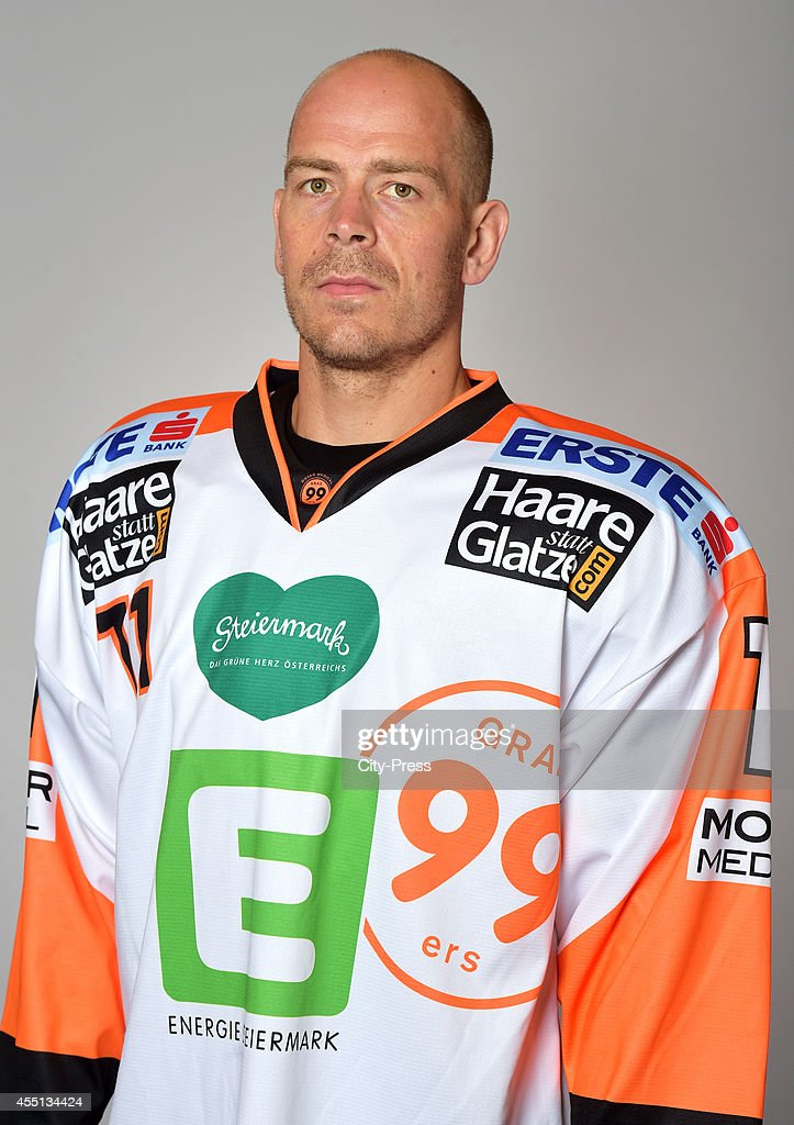 <a gi-track='captionPersonalityLinkClicked' href=/galleries/search?phrase=Anders+Bastiansen&family=editorial&specificpeople=2487581 ng-click='$event.stopPropagation()'>Anders Bastiansen</a> of Graz 99ers during the portrait shot on august 17, 2014 in Landshut, Germany.