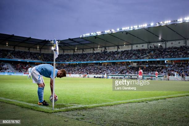 Anders Christiansen of Malmo FF during the Allsvenskan match between Malmo FF and Kalmar FF at Swedbank Stadion on August 11 2017 in Malmo Sweden