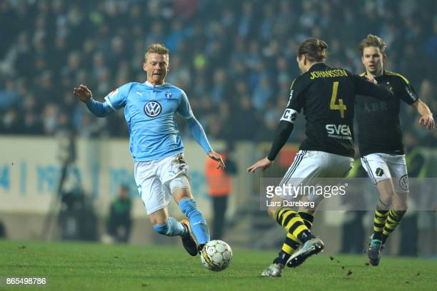 Anders Christiansen of Malmo FF during the allsvenskan match between Malmo FF and AIK at Swedbank Stadion on October 23 2017 in Malmo Sweden