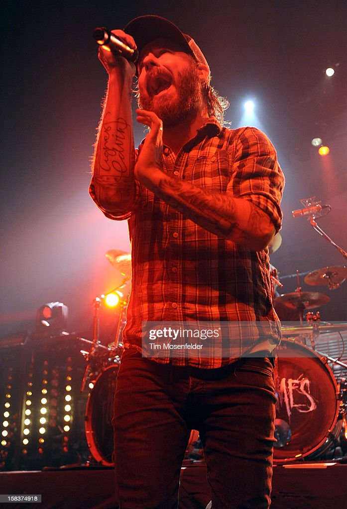 Anders Friden of In Flames performs in support of the bands' 'Sounds of a Playground Fading' release at The Warfield on December 13, 2012 in San Francisco, California.