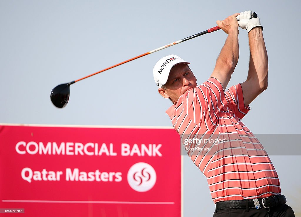 Anders Hansen of Denmark during the second round of the Commercial Bank Qatar Masters at The Doha Golf Club on January 24, 2013 in Doha, Qatar.