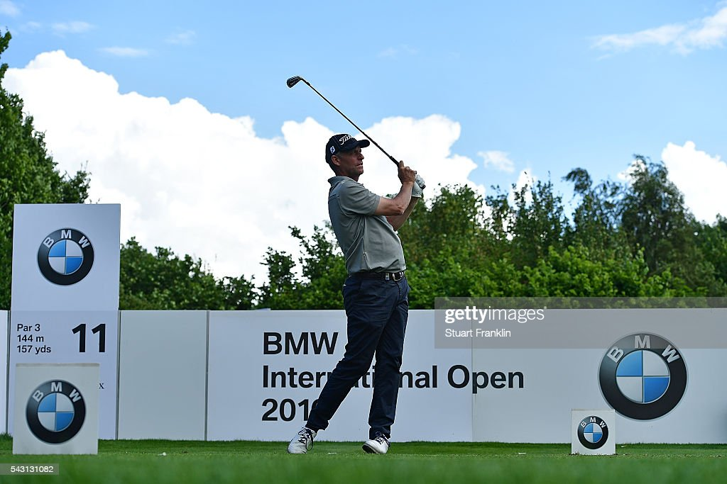<a gi-track='captionPersonalityLinkClicked' href=/galleries/search?phrase=Anders+Hansen&family=editorial&specificpeople=208841 ng-click='$event.stopPropagation()'>Anders Hansen</a> of Denmark tees off during the final round of the BMW International Open at Gut Larchenhof on June 26, 2016 in Cologne, Germany.