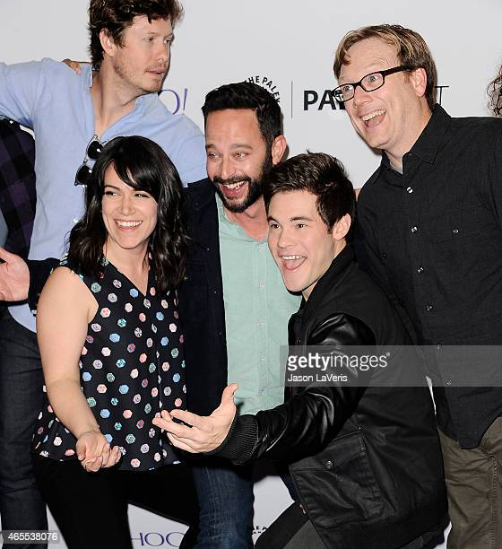 Anders Holm Abbi Jacobson Nick Kroll Adam DeVine and Andy Daly attend A Salute to Comedy Central at the 32nd annual PaleyFest at Dolby Theatre on...