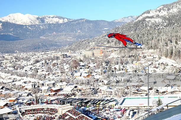 Anders Jacobsen of Norway competes during day 4 of the Four Hills Tournament Ski Jumping event at OlympiaSchanze on January 1 2015 in...
