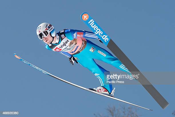 Anders Jacobsen of Norway competes during FIS World Cup Planica Flying Hill Individual Ski Jumping Ski jumping is a form of nordic skiing in which...