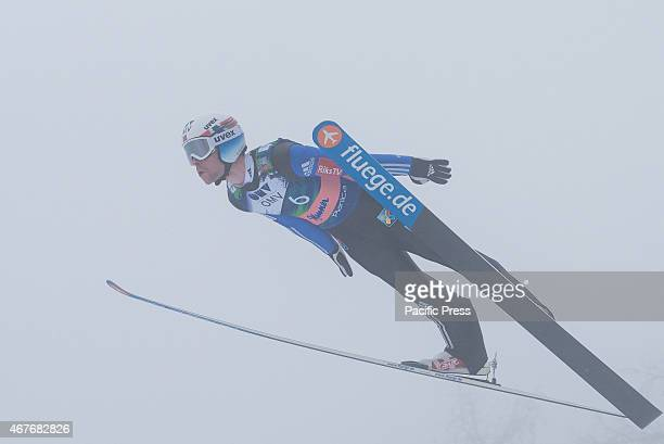 Anders Jacobsen of Norway competes during FIS World Cup Planica Flying Hill Individual Ski Jumping finals