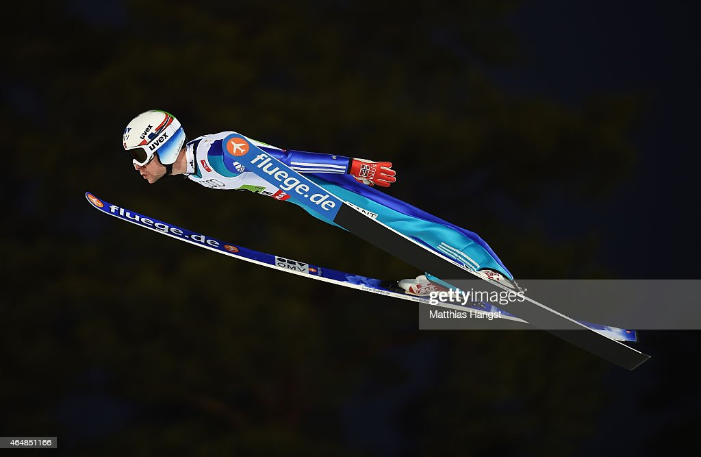 <a gi-track='captionPersonalityLinkClicked' href=/galleries/search?phrase=Anders+Jacobsen+-+Ski+Jumper&family=editorial&specificpeople=12186216 ng-click='$event.stopPropagation()'>Anders Jacobsen</a> of Norway competes during the Men's Team HS134 Large Hill Ski Jumping during the FIS Nordic World Ski Championships at the Lugnet venue on February 28, 2015 in Falun, Sweden.