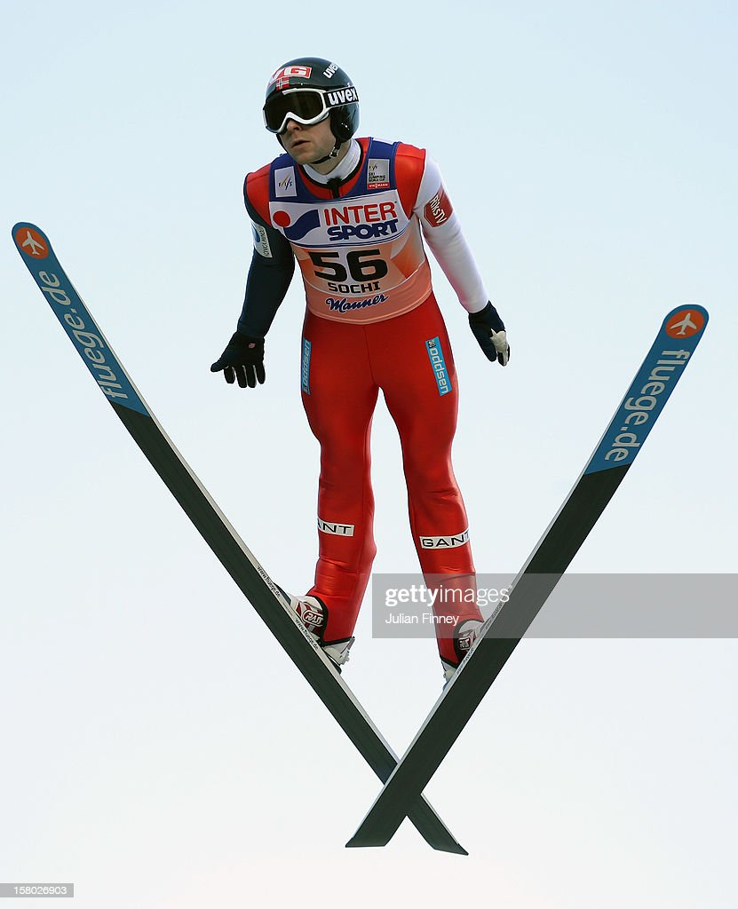 Anders Jacobsen of Norway competes in a Ski Jump during the FIS Ski Jumping World Cup at the RusSki Gorki venue on December 9, 2012 in Sochi, Russia.