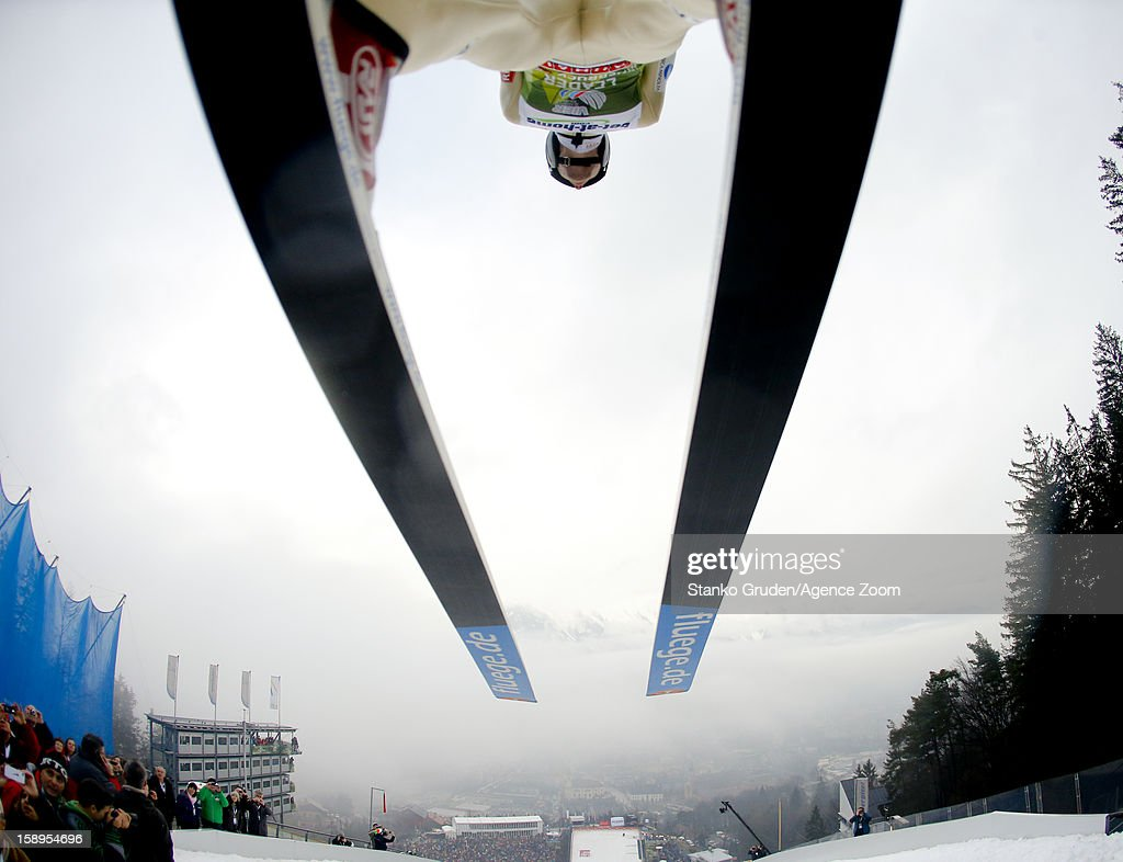 Anders Jacobsen of Norway during the FIS Ski Jumping World Cup Vierschanzentournee (Four Hills Tournament) on January 04, 2013 in Innsbruck, Austria.