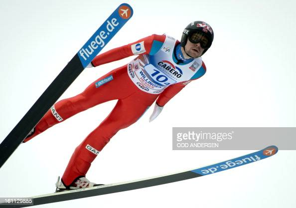 Anders Jacobsen of Norway jumps during the FIS Ski Jumping World Cup team competition on the Muehlenkopfschanze hill in Willingen western Germany on...