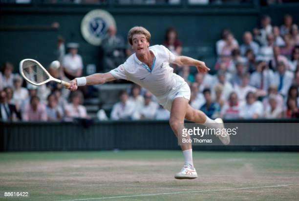 Anders Jarryd of Sweden during the Wimbldeon Lawn Tennis Championships held at the All England Club in London England in July 1985