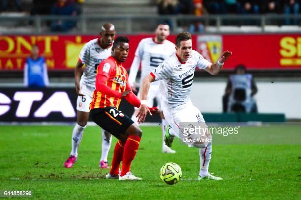 Anders KONRADSEN / Wylan CYPRIEN Lens / Rennes 27eme journee de Ligue 1 Photo Dave Winter / Icon Sport