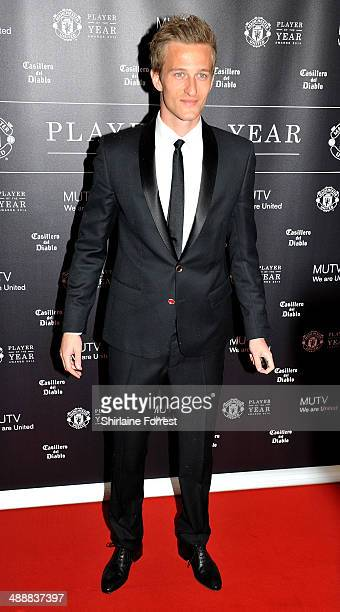 Anders Lindegaard attends the Manchester United Player of the Year awards at Old Trafford on May 8 2014 in Manchester England