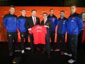 Anders Lindegaard Darren Fletcher Manchester United Group Mananging Director Richard Arnold CEO of Gruppo Campari Bob KunzeConcewitz Rio Ferdinand...