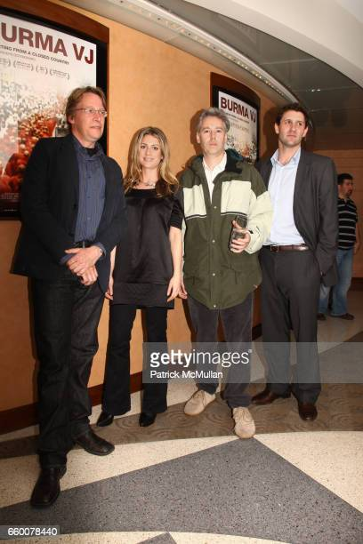 Anders Ostergaard Sara Bernstein Adam Yauch and David Fenkel attend Premiere of BURMA VJ at HBO Building on May 7 2009 in New York City