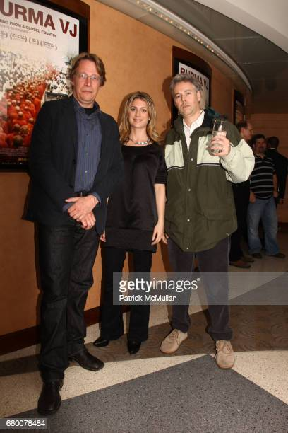 Anders Ostergaard Sara Bernstein and Adam Yauch attend Premiere of BURMA VJ at HBO Building on May 7 2009 in New York City