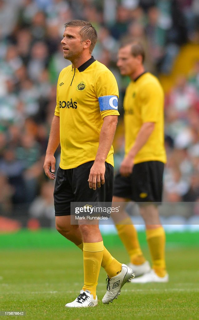 <a gi-track='captionPersonalityLinkClicked' href=/galleries/search?phrase=Anders+Svensson&family=editorial&specificpeople=167083 ng-click='$event.stopPropagation()'>Anders Svensson</a> of Elfsborg during the UEFA Champions League Third Qualifying Round First Leg match between Celtic and Elfsborg at Celtic Park Stadium on July 31, 2013 in Glasgow, Scotland.
