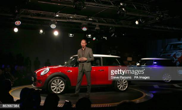 Anders Warming the Danish designer of the new BMW Mini at the unveiling of the car at their plant in Oxford to coincide with the 107th anniversary of...