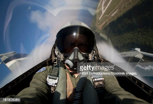 Andersen Air Force Base, Guam, February 6, 2013 - View from the cockpit of an F-16 Block 30 pulling G's in the overhead break during Cope North 2013 exercises.
