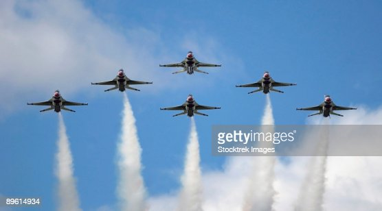Andersen Air Force Base, Guam, September 12, 2004 - The United States Air Force Demonstration Team Thunderbirds performs for the first time in 10 years.