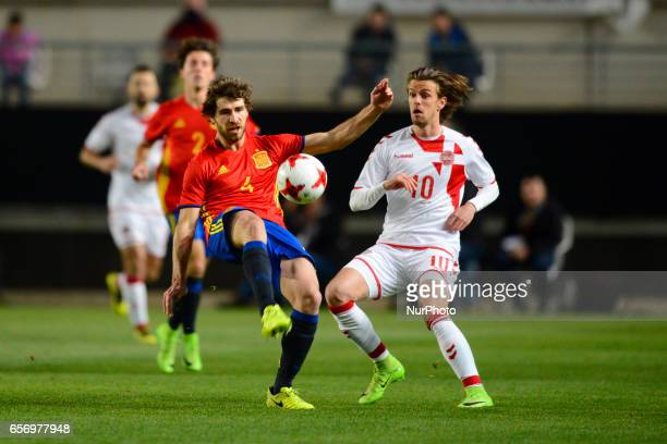 Andersen Yeray Alvarez during the friendly match of national teams U21 of Spain vs Denmark in stadium Nueva Condomina Murcia SPAIN March 23rd 2017