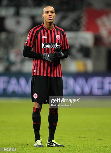 Anderson Bamba of Frankfurt during the Bundesliga match between Eintracht Frankfurt and 1899 Hoffenheim at CommerzbankArena on January 26 2013 in...