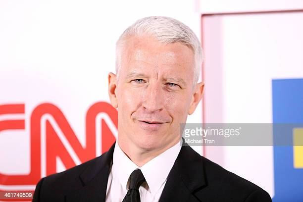 Anderson Cooper arrives at the CNN Worldwide AllStar 2014 Winter TCA party held at Langham Huntington Hotel on January 10 2014 in Pasadena California