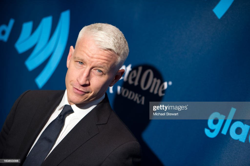 Anderson Cooper attends the 24th annual GLAAD Media awards at The New York Marriott Marquis on March 16, 2013 in New York City.