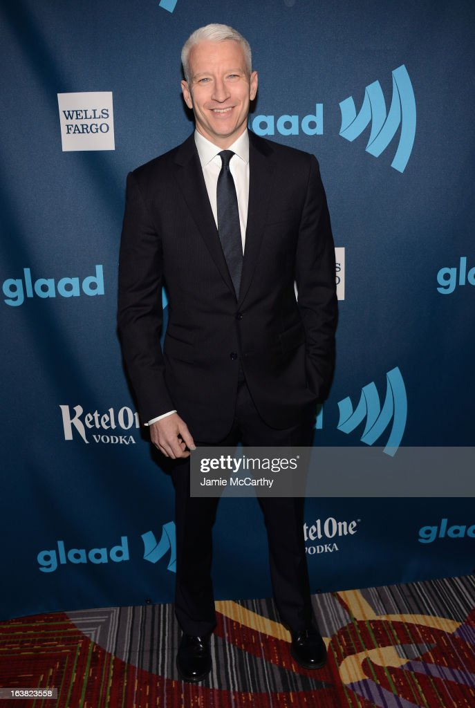 Anderson Cooper attends the 24th Annual GLAAD Media Awards on March 16, 2013 in New York City.