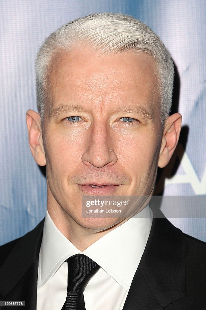 Anderson Cooper attends the 2nd Annual Sean Penn & Friends Help Haiti Home Presented By Giorgio Armani - A Gala To Benefit J/P HRO - Arrivals at Montage Beverly Hills on January 12, 2013 in Beverly Hills, California.