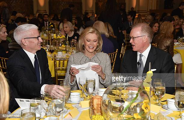 Anderson Cooper Audrey Gruss and Chuck Scarborough attend Hope for Depression Research Foundation 10th Annual Hope Luncheon Seminar at The Plaza...