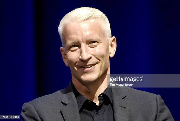 Anderson Cooper performs during the AC2 tour at The Masonic on January 15 2016 in San Francisco California