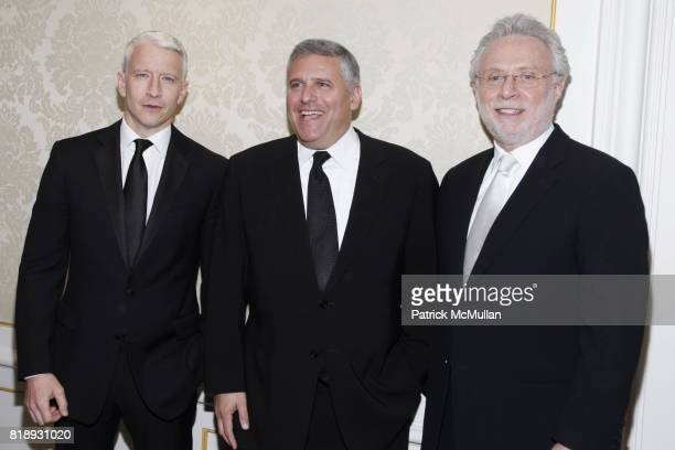 Anderson Cooper Phil Kent and Wolf Blitzer attend MUSEUM Of The MOVING IMAGE Dinner In Honor Of KATIE COURIC And PHIL KENT at St Regis Hotel on May 5...