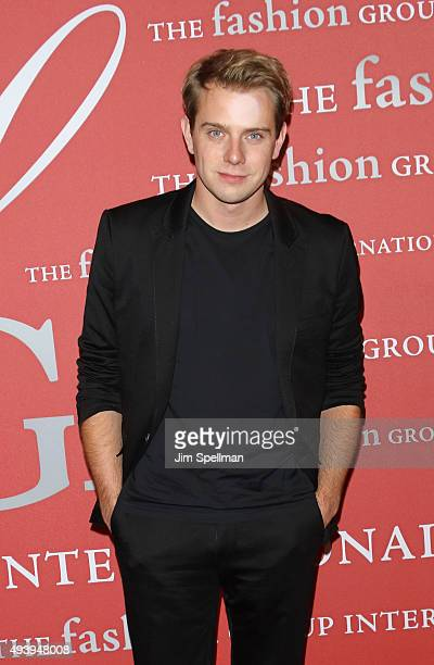 W Anderson designer Jonathan Anderson attends the 2015 Fashion Group International's Night of Stars at Cipriani Wall Street on October 22 2015 in New...