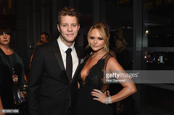 Anderson East and Miranda Lambert attend the 50th annual CMA Awards at the Bridgestone Arena on November 2 2016 in Nashville Tennessee